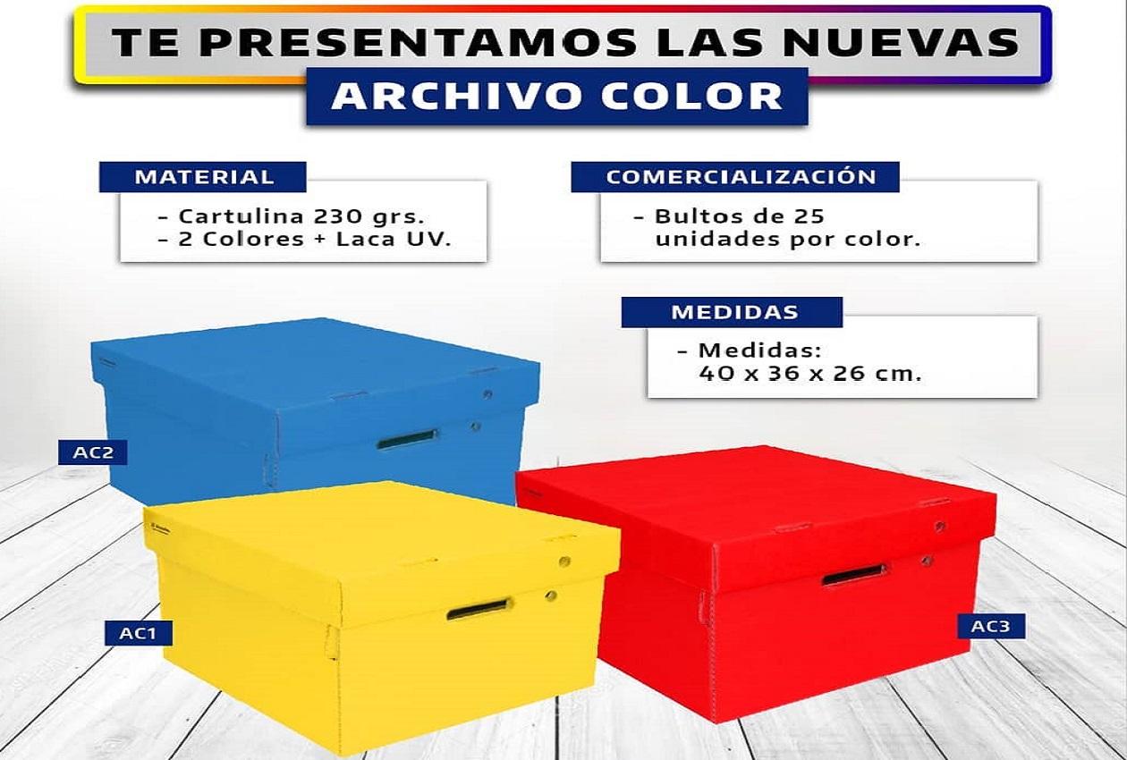 CAJAS DE ARCHIVO COLORES REF. 40x36x26 cm.